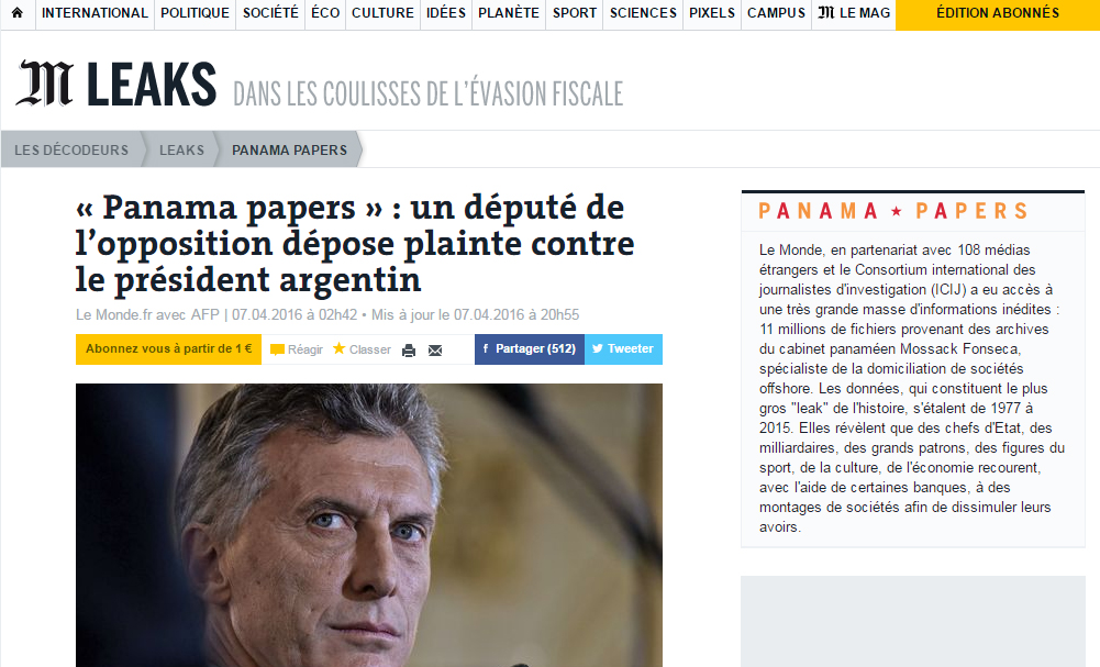 Macri-Le-Monde-Panama-Papers